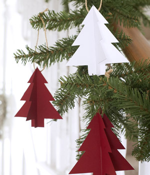 make paper christmas trees
