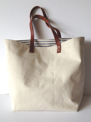 Tote bag main image - Sew a canvas tote bag with leather handles - Craft - allaboutyou.com