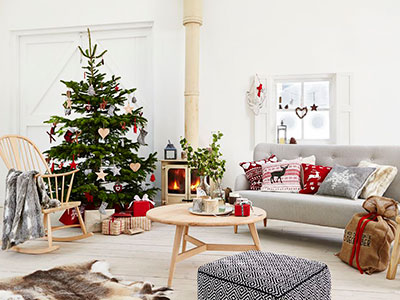 christmas tree scandi style christmas decorations accessories living room ideas homes - Nordic Style Christmas Decorations