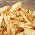 Homemade chunky chips